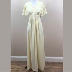 Vintage Ivory Gunne Sax Style Prairie Dress
